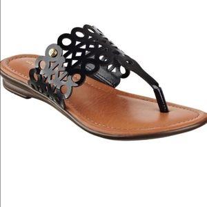 Liz Claiborne Jilliana black sandle 7 M